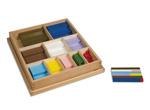 Kist met houten rekenstaafjes